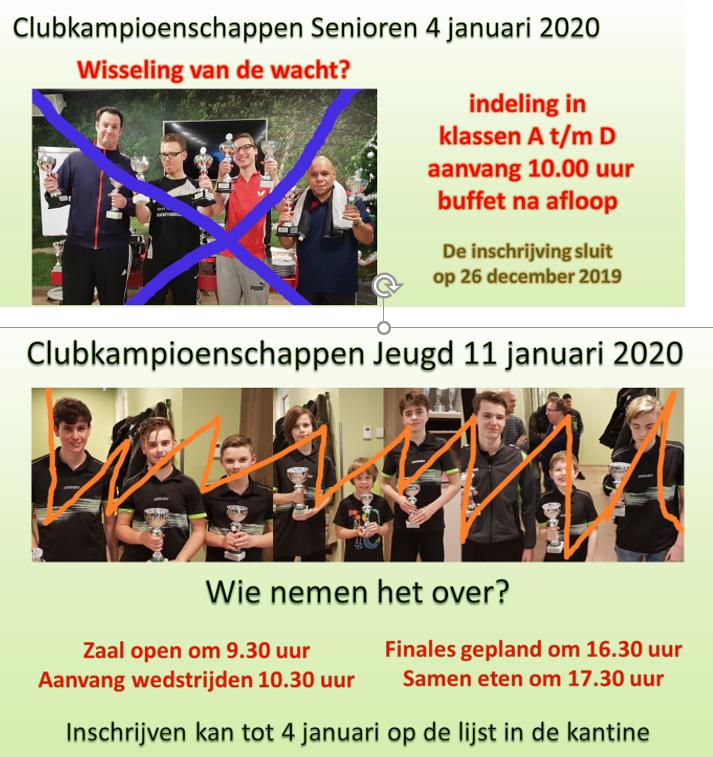 Clubkampioenschappen in januari