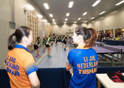 Clinic van Nederlandse toppers bij de opening van de nieuwe zaal in 2017