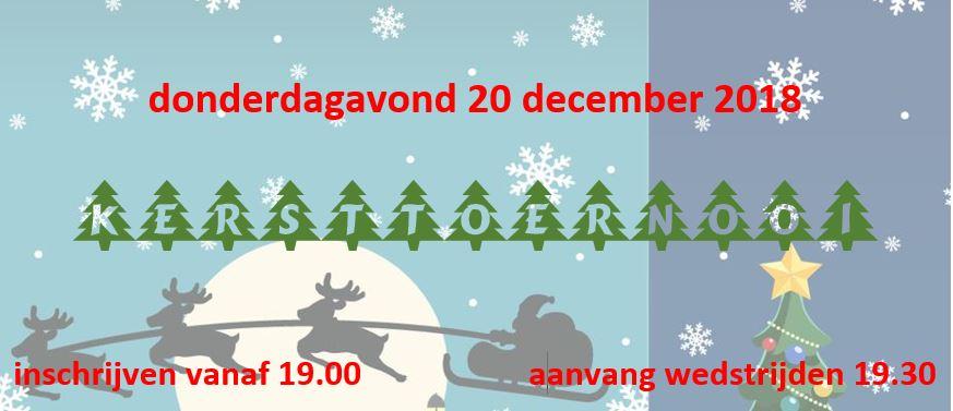 Kersttoernooi / jaarafsluiting 2018